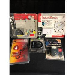MISCELLANEOUS ACCESSORIES LOT (AUTO HEATER/ CAR SECURITY LIGHT...)
