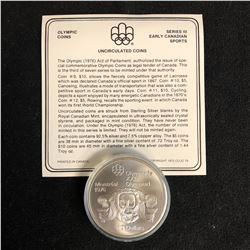 1976 Canada 10 Dollar Silver Coin Montreal Olympics