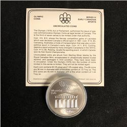 Canada 1976 Montreal Olympic $10 Dollar Silver Coin