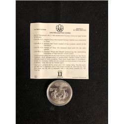 Canada 1976 Montreal Olympic $5 Dollar Silver Coin