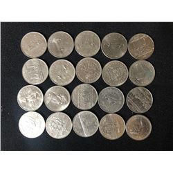 CANADIAN SILVER DOLLARS LOT