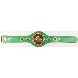 Mike Tyson & Evander Holyfield Signed WBC Replica Full-Size Belt (JSA COA & Fiterman Sport Hologram)