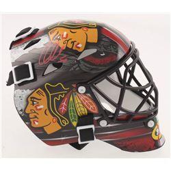 Corey Crawford Signed Chicago Blackhawks Goalie Mask (Schwartz COA)