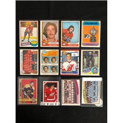 VINTAGE HOCKEY STARS CARD LOT