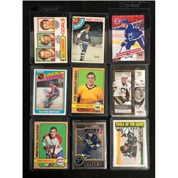 VINTAGE HOCKEY STARS CARD LOT