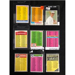 VINTAGE BASEBALL CHECKLISTS LOT