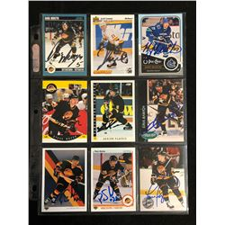VANCOUVER CANUCKS PLAYER SIGNED HOCKEY CARD LOT