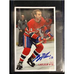 GUY LAFLEUR SIGNED HOCKEY CARD