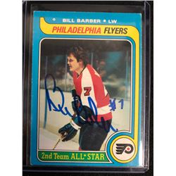 BILL BARBER SIGNED 2ND TEAM ALL-STAR HOCKEY CARD