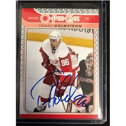 TOMAS HOLMSTROM SIGNED O-PEE-CHEE HOCKEY CARD