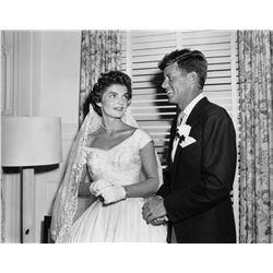 John and Jacqueline Kennedy 1953 Wedding Reception Oversized Photograph