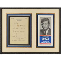 John F. Kennedy Autograph Letter Signed