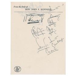 John F. Kennedy Handwritten Doodles