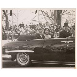 John and Jacqueline Kennedy Inaugural Parade Photograph
