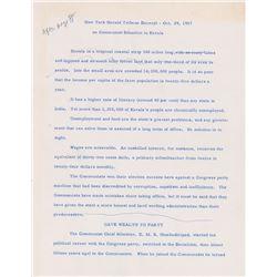 John F. Kennedy Speech Draft
