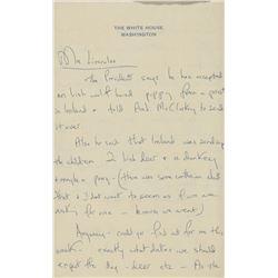 Jacqueline Kennedy Autograph Letter Signed