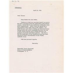 John F. Kennedy Hand-Edited Letter