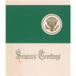 John F. Kennedy Signed Christmas Card