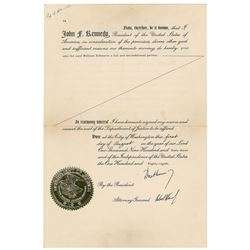 John and Robert Kennedy Signed Document
