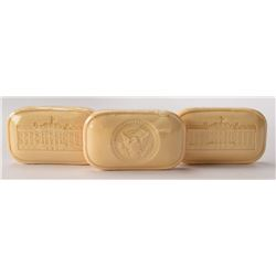 John F. Kennedy White House VIP Gift Soap Set of (3) Large Bars