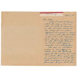Lee Harvey Oswald Autograph Letter Signed
