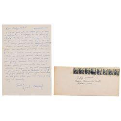 John F. Kennedy, Jr. Autograph Letter Signed