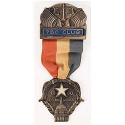 John F. Kennedy 1960 DNC Ribbon Club Badge