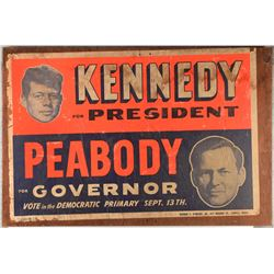 John F. Kennedy and Endicott Peabody Campaign Poster