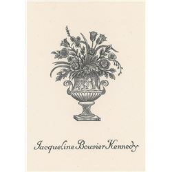 Jacqueline Kennedy Personal Bookplate