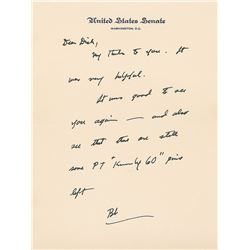 Robert F. Kennedy Autograph Letter Signed