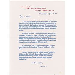 Ethel Kennedy Typed Letter Signed