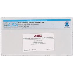 Neil Armstrong: AIL Business Card