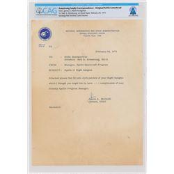 Neil Armstrong: Jim McDivitt Typed Letter Signed