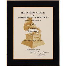 LIVE Boston: Sib Hashian's Grammy Award Nomination Plaque