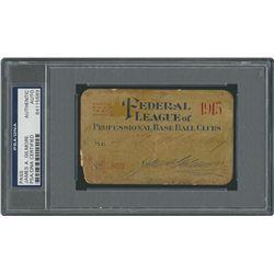 Federal League Annual 1915 Pass