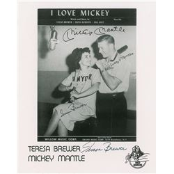 Mickey Mantle and Teresa Brewer