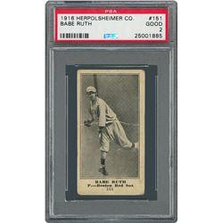 1916 Herpolsheimer Co. #151 Babe Ruth PSA GOOD 2