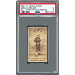 1887 N172 John Clarkson CHI Right Hand, Right Profile - PSA EX 5 (Highest Graded!)