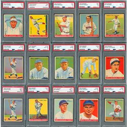 1910s-30s Baseball Card Collection with PSA Graded HOFers (52)