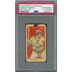 1911 T216 Kotton Honus Wagner Batting 2B - PSA AUTHENTIC