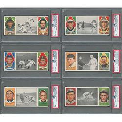 1912 T202 Triple Folder PSA Graded Collection (13) with Ty Cobb and Walter Johnson