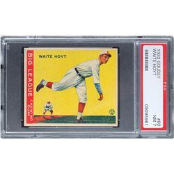 1933 Goudey #60 Waite Hoyt PSA NM 7