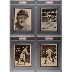 1936 R311 National Chicle Baseball Glossy Premiums Complete Set (27) with Seven PSA Graded