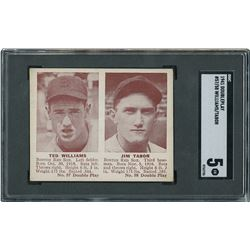 1941 Double Play #57/58 Ted Williams/Jim Tabor - SGC EX 5