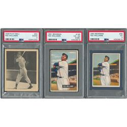 1939-1951 Ted Williams Collection with 1939 Play Ball Rookie Card (3)