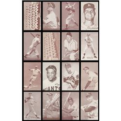1939-66 Exhibits Baseball Card Collection (152) with Salutations (24) and Two Team Cards