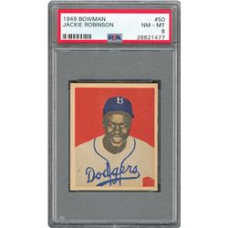 1949 Bowman High Grade PSA NM-MT 8 Collection (20) with Robinson and Paige