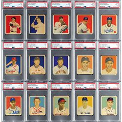 1949 Bowman Near Complete Set (221/252) with (19) PSA Graded