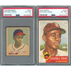 1949 Bowman & 1953 Topps Satchel Paige - PSA EX-MT 6