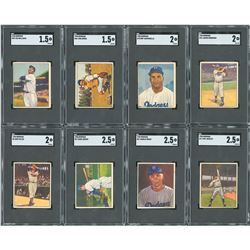 1950 Bowman Complete Set (252) with (8) SGC Graded